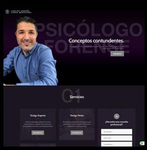 Imagen y Website Psicología Forense López