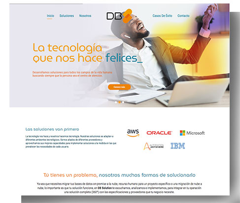 db solution captura pantalla sitio web